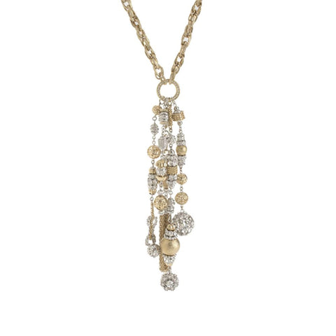 "Joan Rivers Limited Edition Crystal Multi-Tassel 18"" Necklace"