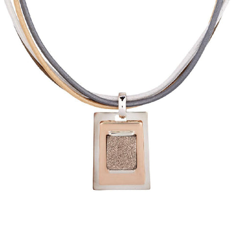 RLM Studio Drusy Sterling and Bronze Necklace