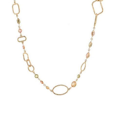 "Joan Rivers Soft Edge Geometric 60"" Necklace w/3"" Extender"