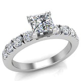Engagement Rings for Women - Princess Cut Diamond 14K Gold  0.50 ct GIA Certificate