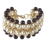 """As Is"" KJL Woven Chain Simulated Pearl Bracelet"