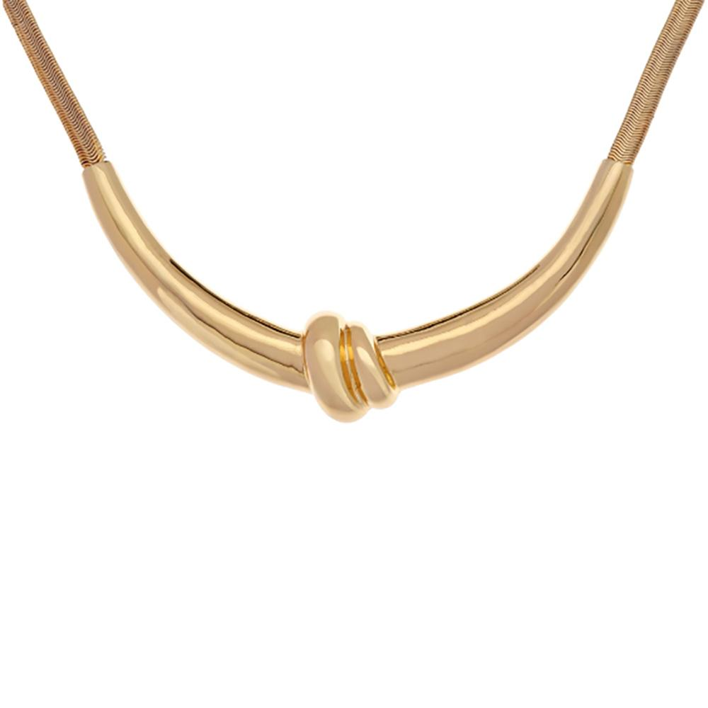 """""""As Is"""" H by Halston Snake Chain Knot Necklace"""