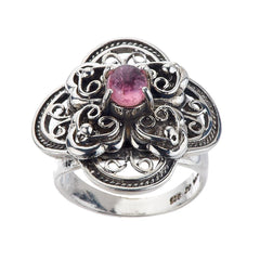 Artisan Crafted Sterling Limited Edition 0.60ct Pink Tourmaline Ring