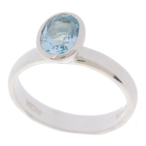 Choice of Sterling Bezel Set Oval Gemstone Rings