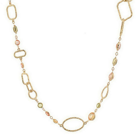 """As Is""Joan Rivers Soft Edge Geometric 60"" Necklace w/ext."