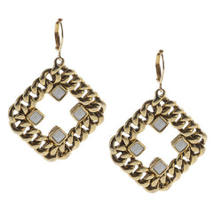 Curblink Chain and Crystal Earrings