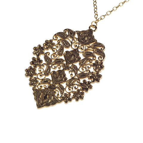 "Paula Abdul's Bold Flower Motif Pendant with 28"" Chain"