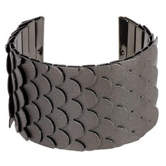 Wendy Williams Textured Snake Scale Style Cuff Bracelet