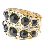"""As Is""KJL Cabo chon Cuff Bracelet"