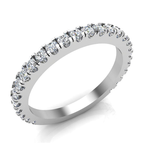 0.55 Ctw Diamond Wedding Band (I,I1) - White Gold