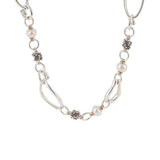"Michael Dawkins Sterling & 14K Cultured FreshwaterPearl 17"" Necklace"