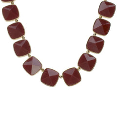 Luxe Rachel Zoe Faceted Peaked Stone Necklace
