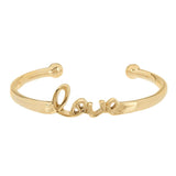 Stainless Steel Polished Love Cuff Bracelet