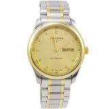 Master Collection L2.755.5.37.7 18k Gold And Stainless Steel Diamond Markers Transparent Case Back Men's L27555377