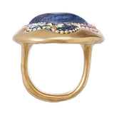 Orit Schatzman 14K Gold Plated Sterling Sodalite Oval Ring