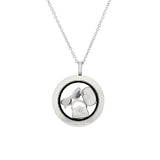 Stainless Steel Shaker Charm Pendant with Chain