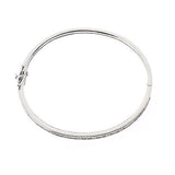 Epiphany Platinum Clad Diamonique Baguette and Round Bangle