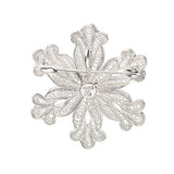 Artisan Crafted Sterling Snowflake Pin/Pendant w/ Petitepoint Box