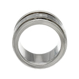 Stainless Steel Our Father Prayer Spinner Ring