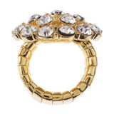 Isaac Mizrahi Live! Perfect Crystal Round Stretch Ring