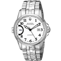 Bulova Accu Swiss 63B172 Mens Accu Swiss Silver Steel Bracelet Watch