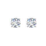 Diamond Earrings for Women Men Round Cut 14K Gold Diamond studs 1/4 - 1.00 ct tw Screw on posts (G, I2) - White Gold