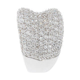 Diamonique Sterling 3.25 ct tw Bold Pave' Concave Ring