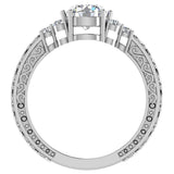 0.96 Carat Vintage Wedding Ring 14K Gold (G,I1) - White Gold