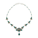 Artisan Crafted Sterling 10.25 ct tw Gemstone Drop Necklace