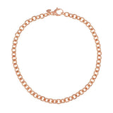 "Bronze 18"" Solid Polished Oval Link Necklace by Bronzo Italia"