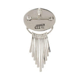 Artisan Crafted Sterling Gemstone Fringe Pin/Pendant with Collar