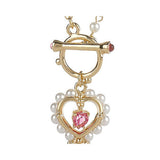 Marie Osmond's Key to My Heart Toggle Necklace