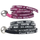 Good Works Set of 2 Inspiration Wrap Bracelets
