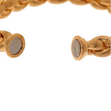 Bronzo Italia Average Puffed Satin Finish Teardrop Link Bracelet