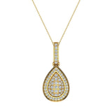 1.00 ct tw Pear Drop-Shape Diamond Necklace 14K Gold (I,I1) - Yellow Gold