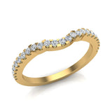 Diamond Wedding Band matching to Three stone Split Shank Wedding Ring 18K Gold 0.25 carat (G,VS) - Yellow Gold