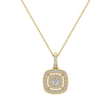 Cushion Twining Dainty Charm Necklace 14K Gold 0.41 Ctw (I,I1) - Yellow Gold