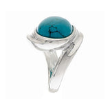 Turquoise Bold Polished East/West Sterling Ring