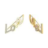Love vines Ear Climbers Earrings 14k Gold (I,I1) - Yellow Gold