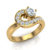 Promise Snake Love Knot Diamond Ring 14K Gold 1.00 ctw (G,SI) - Yellow Gold