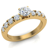 Engagement Rings for Women - Round Brilliant Diamond 14K Gold  0.50 ct GIA Certificate - Yellow Gold