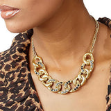 Wildlife by Heidi Klum Sparkle Curb Link Necklace