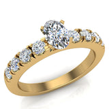 Engagement Rings for Women - Oval Cut Diamond 18K Gold  0.50 ct GIA Certificate - Yellow Gold