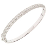 Epiphany Platinum Clad Diamonique Pave' Bangle