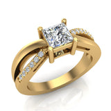 Infinity Shank Promise Diamond Ring 14K Gold 0.75 Ctw (I,I1) - Yellow Gold
