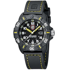 New Luminox Coronado - 3025 Black And Yellow Watch A.3025