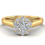 Round Diamond Halo Promise Ring in 14k Gold (G,VS) - Yellow Gold