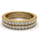 Exquisite Stacking Diamond Eternity Wedding Bands 0.86 ctw 14K Gold (I,I1) - Yellow Gold