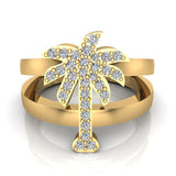 Trendsetter Fashion Palm Tree Diamond Ring 0.31 ctw 18K Gold (G,SI) - Yellow Gold