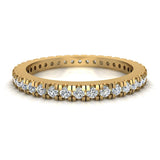 Exquisite Stacking Diamond Eternity Wedding Band 0.57 ctw 18K Gold (G,SI) - Yellow Gold